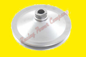 Chrome Sbc Bbc Chevy 238 327 1 Groove Key Way Power Steering Pump Pulley Saginaw