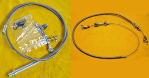 36 Throttle Pedal Turbo 350 Kickdown Cable Kit Stainless Steel Fits Sbc Bbc