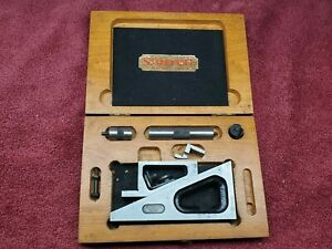 Starrett No 995 Precision Planer Gage W Wood Case