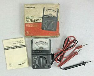 Radio Shack Micronta 22 212 Multimeter With Probes Box And Instructions