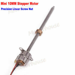 Micro 10mm Stepping Motor 5v 2 Phase 4 Wire Stepper Long Lead Screw Nut Slider