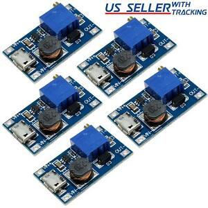 5pcs Dc dc Micro usb Step Up Boost Module 2 24v In 5 28v Output Power Converter