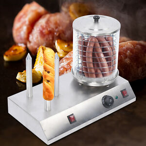 Hot Dog Steamer Cooker Oven Sausage Machine Warmer Cooking 850w