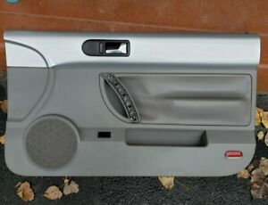 03 10 New Beetle Convertible Right Passenge Side Door Panel Front Silver Gray