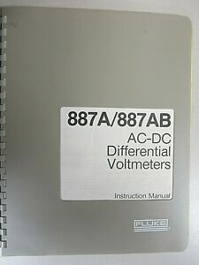 Fluke 887a 887ab Ac dc Differential Voltmeters 294256 Instruction Manual