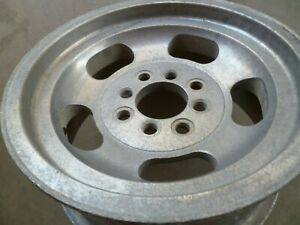 Vintage Aluminum Slot 13x6 Wheel Rim Pattern 4x4 4x110mm
