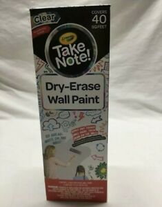 Crayola Dry erase Wall Paint Clear Paint Covers 40 Sq Feet