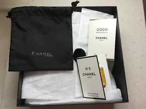 Chanel Gift Box Storage Empty Make up Pouch With Two Testers Brand New
