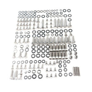Fit For Sbc Chevy Engine Bolts Kit Stainless Small Block 265 283 305 327 Hex Set
