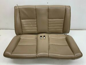 1999 2004 Oem Ford Mustang Convertible Gt Rear Seat Back Tan Leather s8293