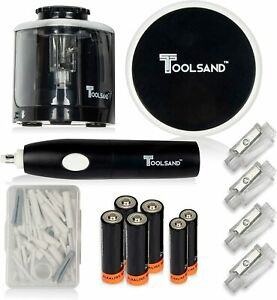 Electric Pencil Sharpener Eraser And Vacuum Set Batteries Included High Speed