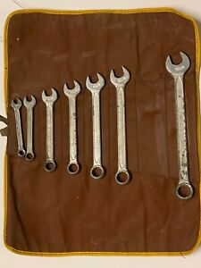 Indestro Vintage Wrench Set 7pc Sae Standard Combination Wrenches Usa