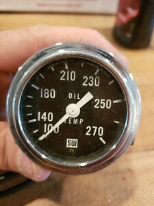 Vintage 1960 S Stewart Warner 100 270 2 1 4 Inch Oil Temp Gauge Temperature