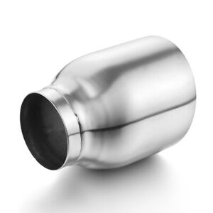 Lcgp Truck Exhaust Tip 2 5 Inlet 4 Outlet 5 Long Stainless Steel Weld On