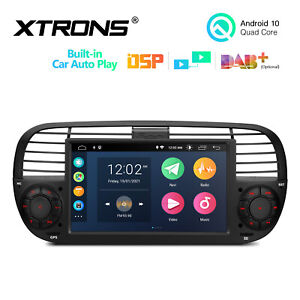 7 Android 10 0 Dsp Tpms Car Stereo Radio Head Unit Bt5 0 For Fiat 500 2007 2015