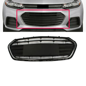 Black Front Bumper Lower Grill Grille Fit For 2017 18 Chevrolet Trax 4 Door New