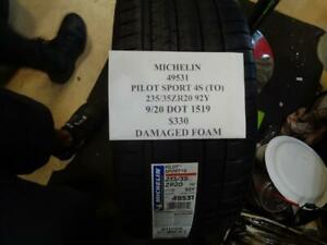 1 New Michelin Pilot Sport 4s to 245 35 20 92y Xl Tire Damaged Foam 49531 Q0