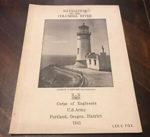 1941 Navigation On The Columbia River Oregon Book Maps Army Corp Engineers