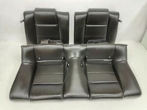 2005 2009 Oem Ford Mustang Coupe Base Rear Black Leather Back Seats S8353