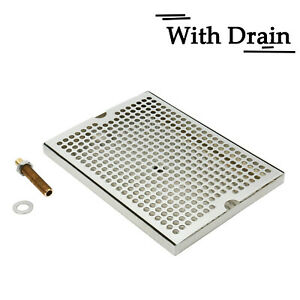Beer Drip Tray Surface Mount With Drain 12inch X 9inch Stainless Steel Kitchen