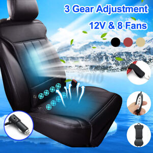 8 Built in 12v Fan Cooling Fan Wind Ventilated Cooling Car Seat Cushion