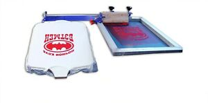 1 Color Screen Printing Machine With Movable Screen Frame Clamp Holder