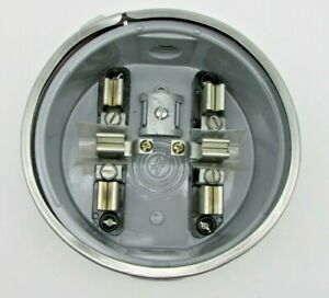 One New Jf Round Electric Meter Socket Base Can Mount Box New With Ring