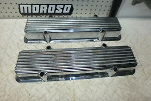 Vintage Sbc 265 283 Stagered Bolt Keystone Valve Covers Chevy