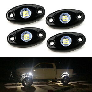 4pc Universal 9 Smd High Power Led Rock Lights For Jeep Truck Suv Off Road Boat