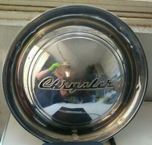 Chrysler 1949 49 Hubcap Hub Cap Vintage Chrome Wheel Cover Antique Auto Car