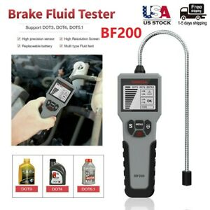 Automotive Brake Fluid Tester Bf200 For Dot3 4 5 1 Oil Quality Check Tester Tool