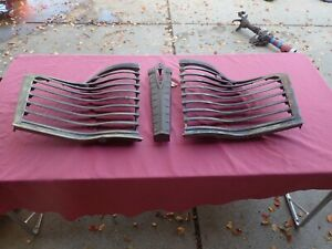 1941 Buick Front Grilles And Center Section Stripped