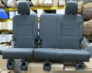 19 20 Chevy Traverse Lt Rear 3rd Row Dk Galvanized Leather Bench Seat