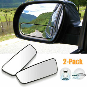 2pcs 360 Rotation Car Stick On Rear View Auxiliary Blind Spot Mirror Wide Angle