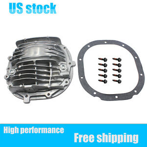 For 85 14 Mustang New 8 8 Finned Rear Axle Cover Kit W Bolts Valve Vent 3 7l