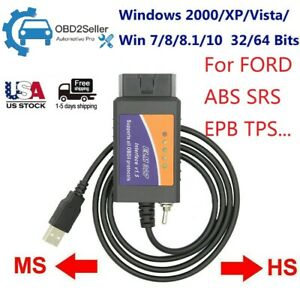 For Ford Forscan Elm327 Obd2 Scanner Code Reader Abs Bleeding Srs Epb Oil Reset