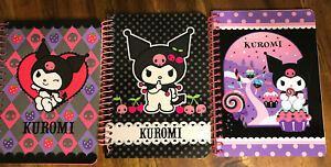 Lot Of 3 Kuromi Note Pads Spiral Binders 4 x3 Sanrio Company Hello Kitty New