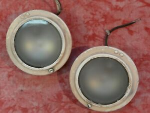 Pair Vintage 1930 1940 s Parking turn Signal Back Up Reverse Interior Lights