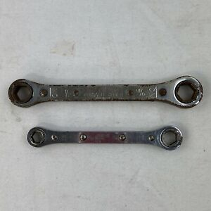 Cornwell allied 1 2 X 9 16 Snap On 3 8 X 7 16 Ratcheting 6 Pt Box End Wrench B16
