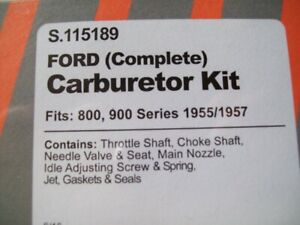 Ford 800 And 900 Series Tractors 1955 1957 Complete Carburetor Kit