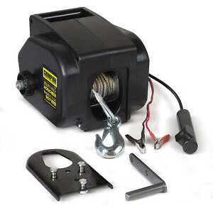 New 12 Volt Portable Electric Winch Towing Boat Kit Truck Trailer 2000 Lb Remote