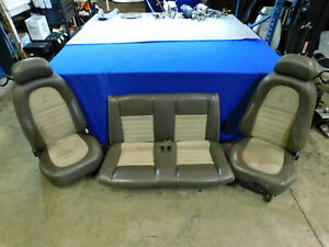 01 2001 Ford Mustang Cobra Convertible Two Tone Parchment Oem Seats 99 04 V37