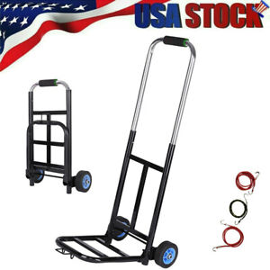 Portable Luggage Cart Aluminum Folding Hand Truck Dolly Warehouse Trolley
