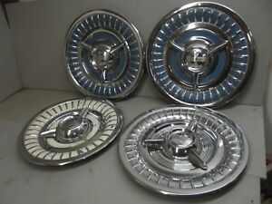 1958 Oldsmobile Dynamic Eighty Eight Ninety Eight Rocket Holiday Fiesta Hubcaps