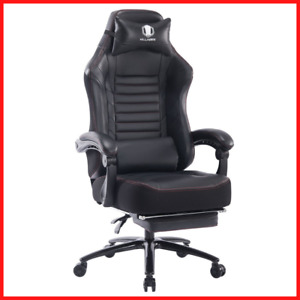 Professional Gaming Racing Chair Ergonomic Massage Footrest Computer Office