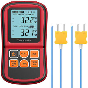 Digital Thermometer Dual Channel Thermometer With Two K Type Thermocouples