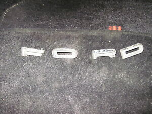 1965 1967 Ford Letter Set Hood Fairlane Falcon Ranchero