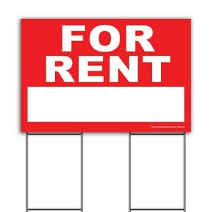For Rent Real Estate 36 x24 Extra large Signs Waterproof Double sided Print