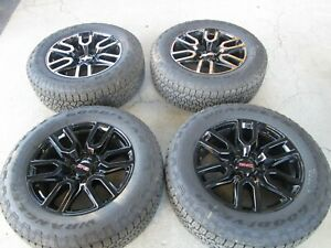 20 Chevy Gmc 1500 Black Oem Factory 20 Wheels Rims Tires 2021 Elevation