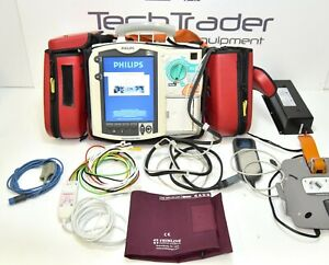 Philips Heartstart M3536a Mrx Monitor 12 Lead Ecg Spo2 Nbp Co2 Qcpr Aed charger